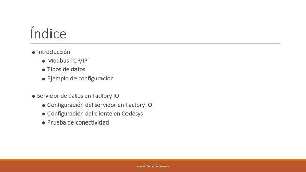 Conexión Modbus entre codesys y Factory IO