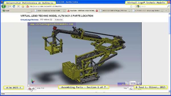 Montaje Modelo Lego Technic 8421-3 con Solidworks ¿ 1 de 7 - no audio