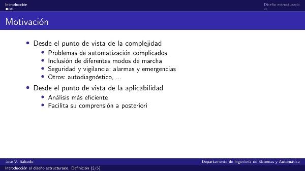 Introducción al diseño estructurado de automatismos. Definición.