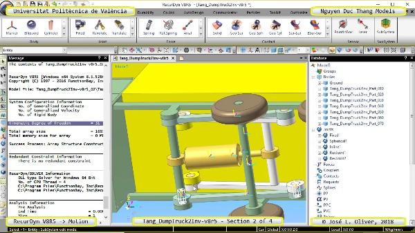 Simulación Cinemática Tang_DumpTruck2Inv-v8r5 con Recurdyn - MopTa - 2 de 4