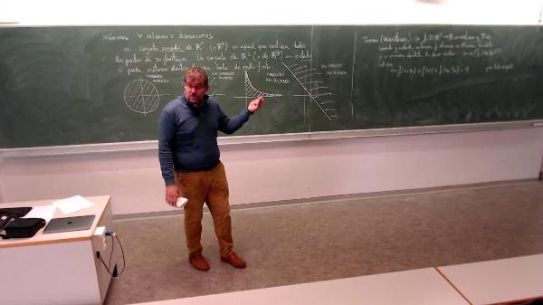 Matemáticas I-32-3-Explicación de conjunto cerrado, acotado y teorema de Weierstrass