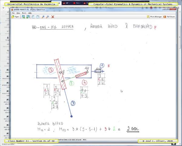 Mecánica y Teoría de Mecanismos ¿ 2020 ¿ MM - Clase 13 ¿ Tramo 05 de 10