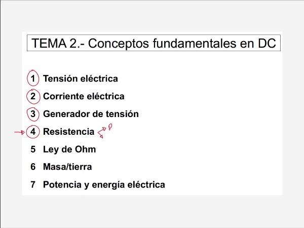 Teoría de Circuitos: 2.6.- Resistencia eléctrica