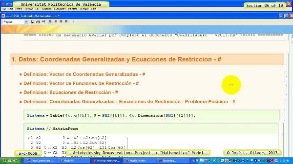 Solución Cinemática Simbólica a_c_0658 con Mathematica -A- 06 de 10