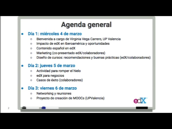 SPOC Gestión de MOOC. Agenda workshop
