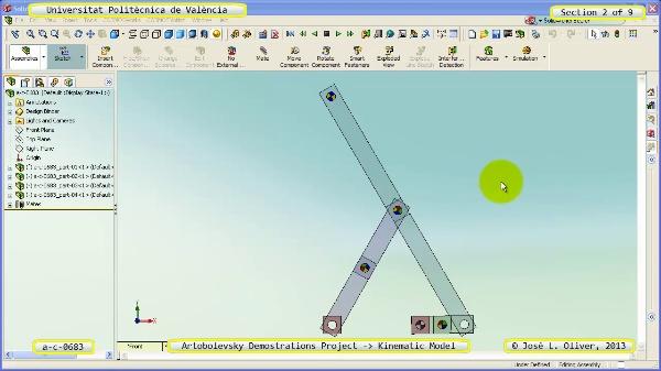 Simulación Mecanismo a_c_0683 con Cosmos Motion - 2 de 9