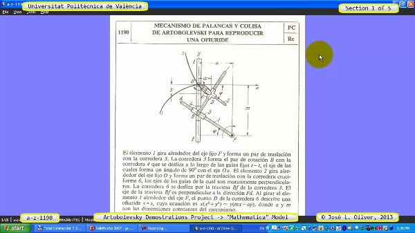 Solución Cinemática Simbólica a_z_1190 con Mathematica - 1 de 5