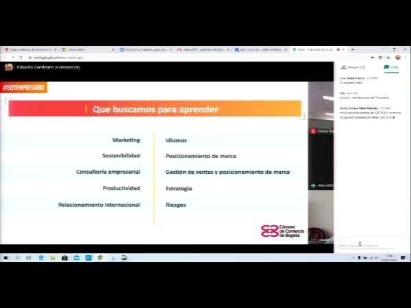 SPOC Gestión de MOOC. Cámara de comercio de Bogotá. Seguimiento del aprendizaje