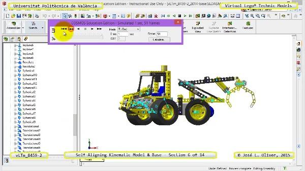 Simulación Dinámica Lego Technic 8459-2 sobre Base ¿ 06 de 14