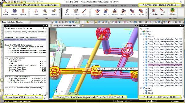 Simulación Cinemática Thang_Trucks-SteeringRadius3Inv-wb-v8r5 con Recurdyn - M3dTa - 2 de 4