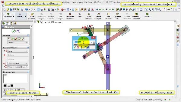Simulación Mecanismo a-z-1133 con Mechanica - 04 de 29