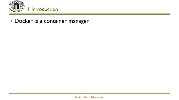 Docker: Overall description