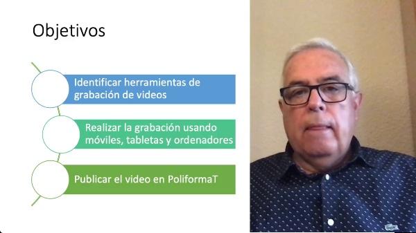 Aula 2.0. Grabación de un video y distribución en PoliformaT