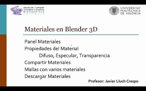 MATERIALES EN BLENDER 3D