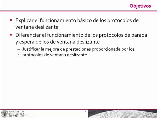 Protocolos de ventana deslizante para transferencia fiable